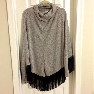Poncho with Fringe by Zozo